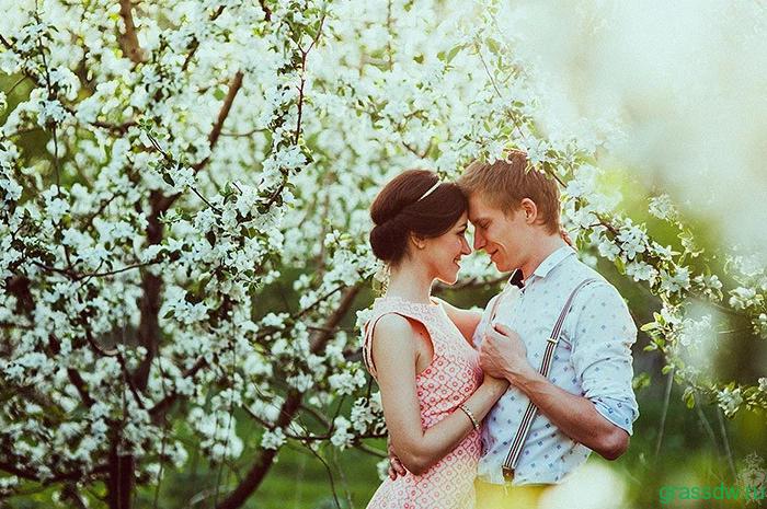 любовь в саду